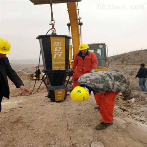 山西大同矿洞掘进岩石撑裂机