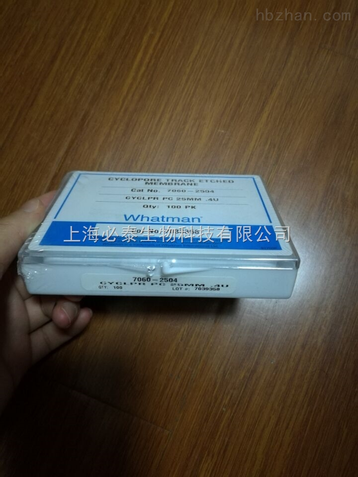 whatman0.4CYCLPORE聚碳酸酯膜7060-2504