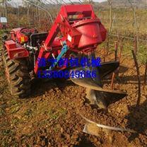 植树造林拖拉机挖坑机