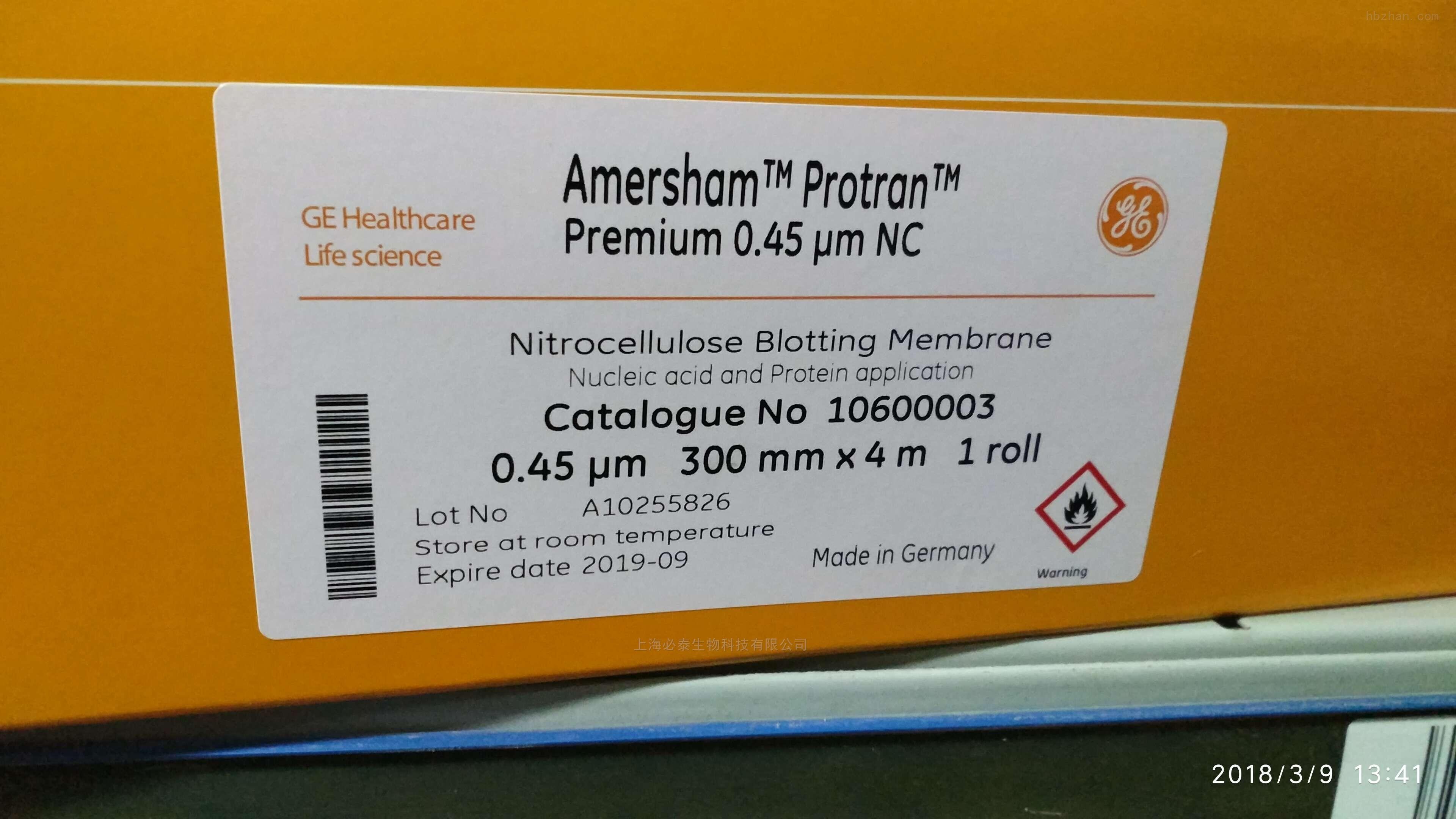 GEwhatman 硝酸纤维素膜NC膜10600003