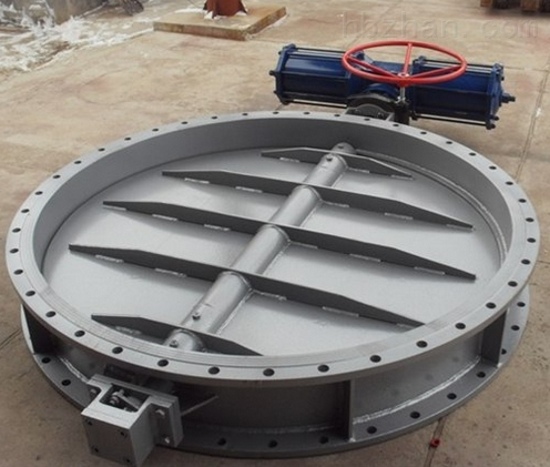 DN1400 PN2.5大口径气动通风蝶阀D641W-2.5
