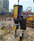 佛山市政工程石头硬静态爆破撑石机现场效果