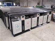供应景区分类垃圾桶 钢板垃圾桶 大号不锈钢垃圾通