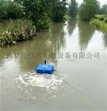 FQXB7.5河道潜水式浮筒曝气机现场安装