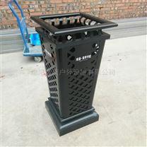 钢板冲孔垃圾桶 黑色best365亚洲版官网果皮箱 镂空环卫箱
