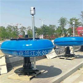 浮筒造流曝气机现场安装示意图