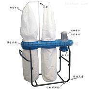 工业吸尘器双桶布袋式可移动1.5千瓦