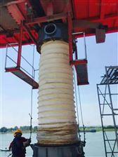 1500*1700码头水泥卸船机伸缩溜筒  伸缩防尘罩