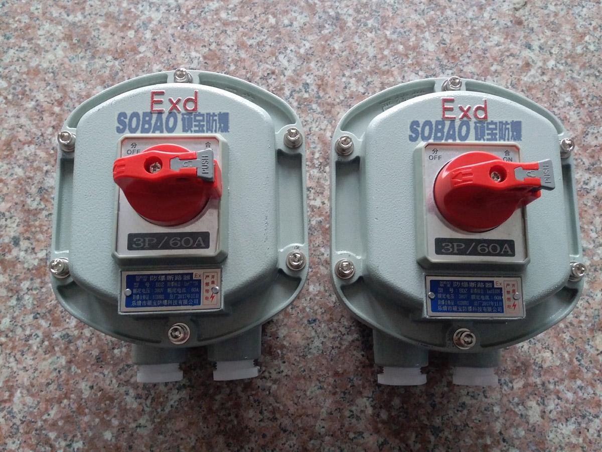 防爆断路器价格/3P63A带漏电防爆断路器厂家