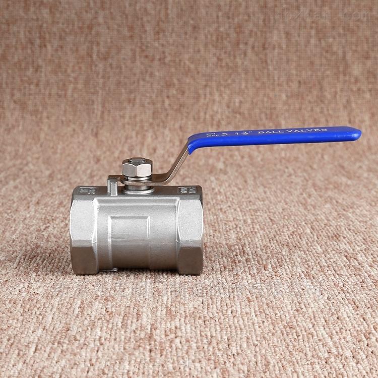 不锈钢一片式丝扣螺纹球阀手动开关