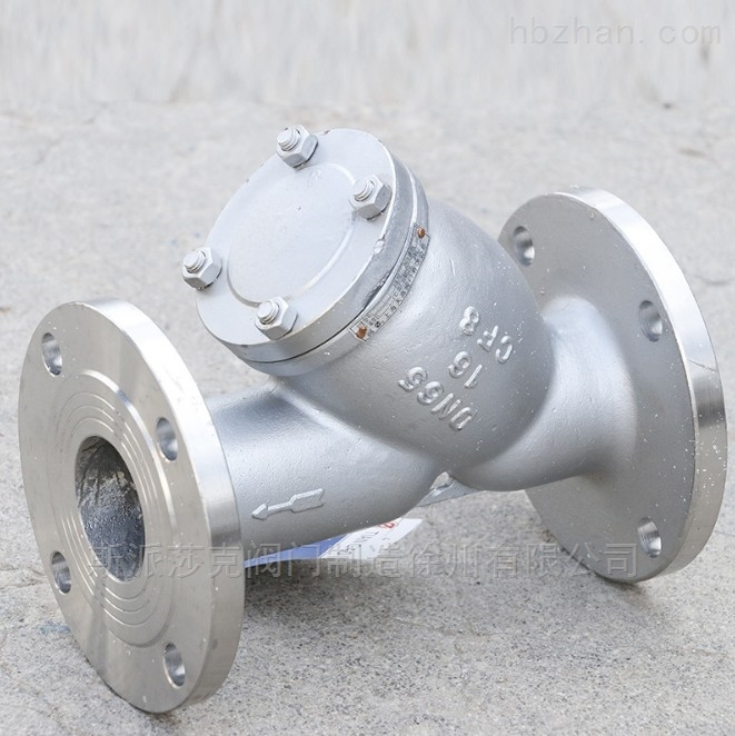 高温蒸汽导热油304不锈钢Y型法兰过滤器
