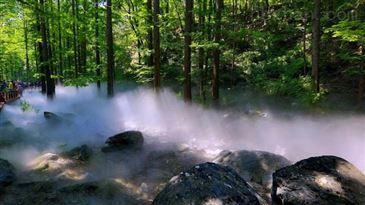 丹阳景观设备喷雾,园林景观人造雾假山v景观设计图会审图片