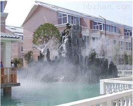 云浮水景人工湖造雾