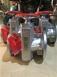 GJ41X手动铝合金管夹阀
