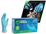 愛馬斯AMMEX一次性加厚型藍色無粉手套