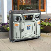 120升瓶类 纸类智能三分类垃圾箱 都市 园林