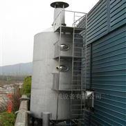 烟气除尘喷淋净化塔现场制作
