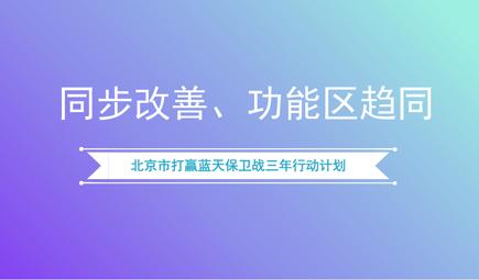 《北京市打赢蓝天保卫战三年行动计划》