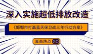 《邯鄲市打贏藍天保衛戰三年行動方案》