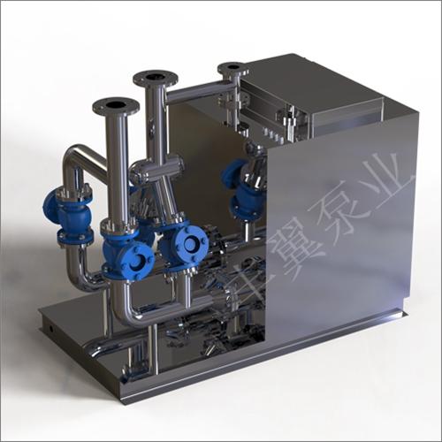 另外一款智能化污水提升净污设备是丰翼泵业将排污泵和集水箱,控制