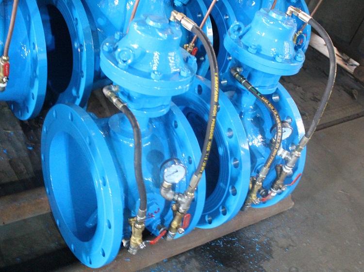 dg7mh41h 膜片式铸钢管力阀 大口径管路系统专用图片