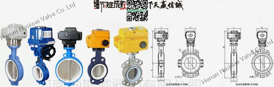 郑州纳斯威d971f电动衬氟蝶阀厂家价格图片