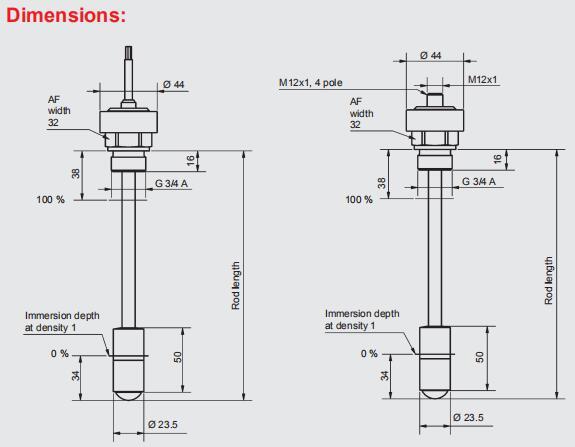 工作原理: 而液位传感器是将液位的高度转化为电信号的形式进行输出.
