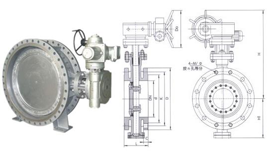 dn1200电动蝶阀d943h-10~16图片