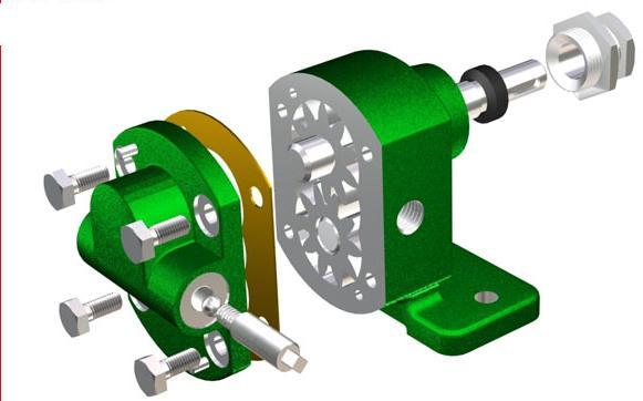 齿轮油泵剖面图