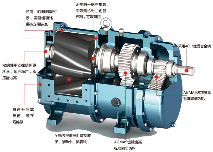 凸轮转子泵结构图