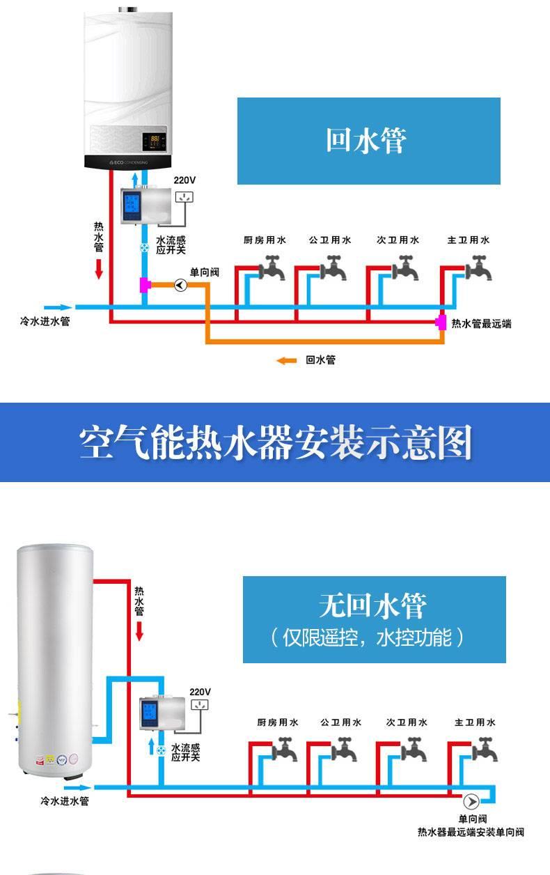 家用热水循环泵安装示意图
