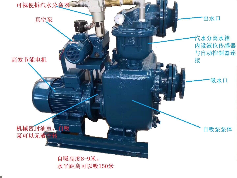 真空辅助自吸排污泵结构图