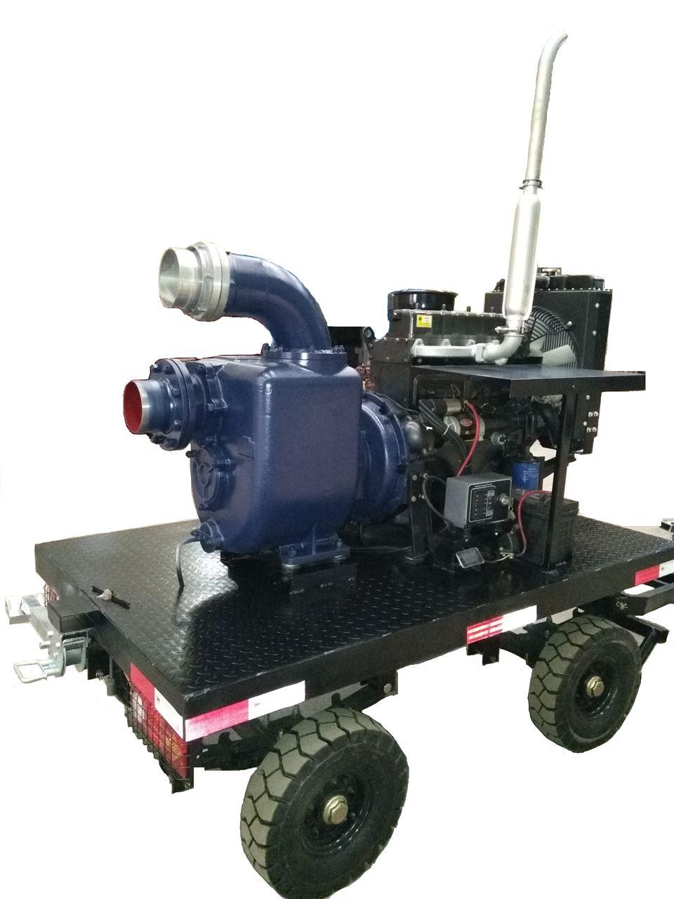 拖车式大流量柴油机自吸泵