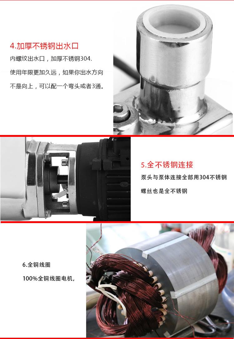 小型不銹鋼自吸泵優點